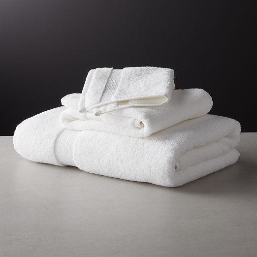 Slattery White Bath Towels