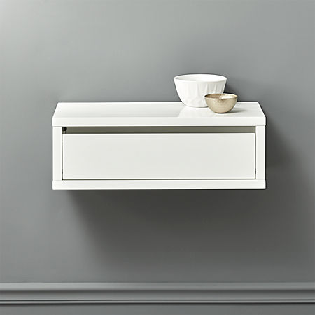Slice White Wall Mounted Shelf