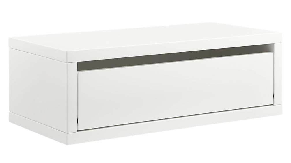Genial Slice White Wall Mounted Shelf + Reviews | CB2