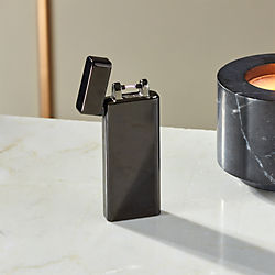 Slim Black USB Lighter