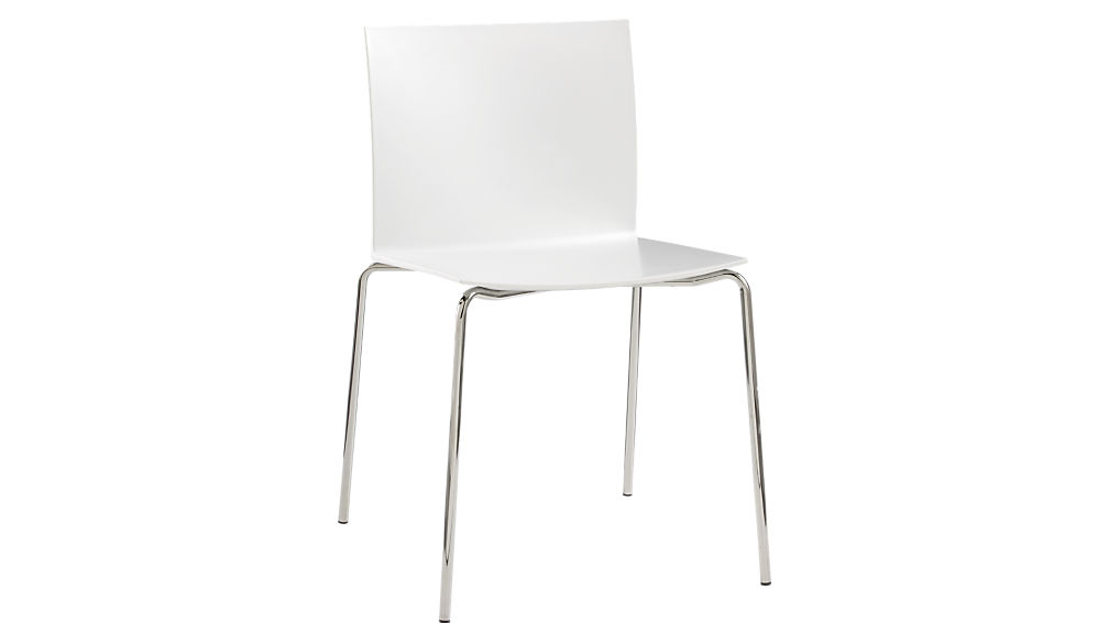 Bon Slim White Chair + Reviews | CB2