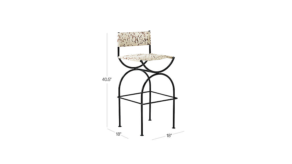 """Image with dimension for Sling 30"""" Bar Stool"""