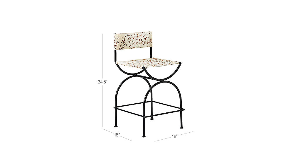 """Image with dimension for Sling 24"""" Counter Stool"""