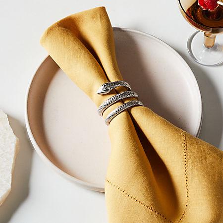 Slink Silver Napkin Ring Reviews Cb2