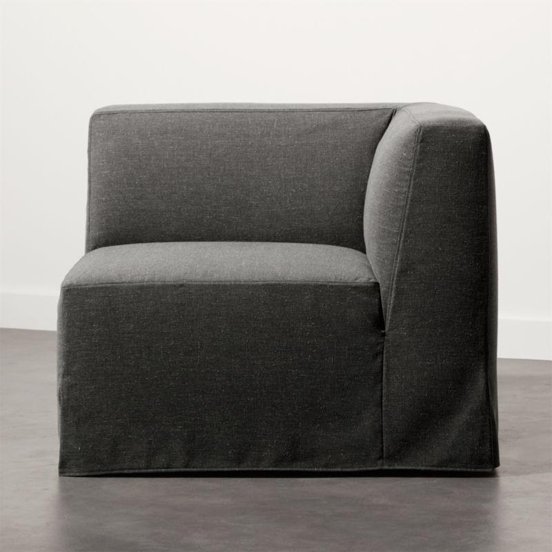 Slipcover Grey Modular Corner Chair