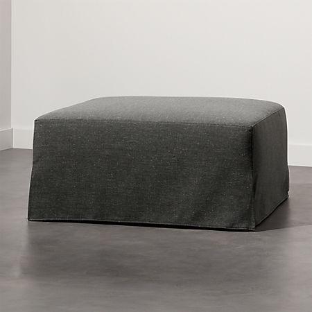 Cool Slipcover Grey Modular Ottoman Ncnpc Chair Design For Home Ncnpcorg