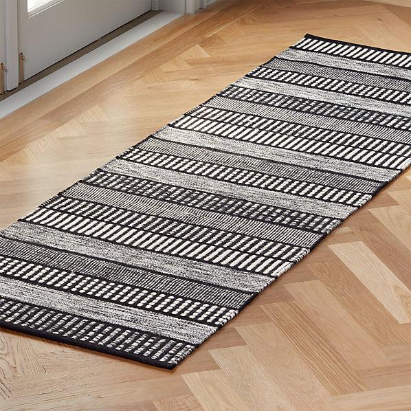 Sloane Handloom Black And White Striped Runner 2 5 X8 Reviews Cb2