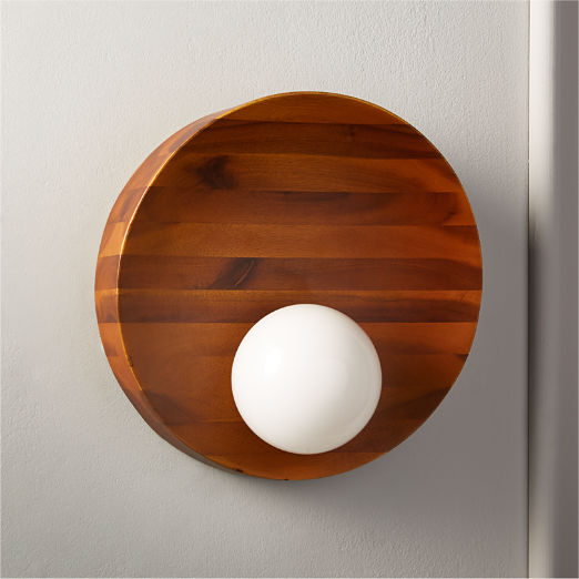 Slope Acacia Wood Sconce