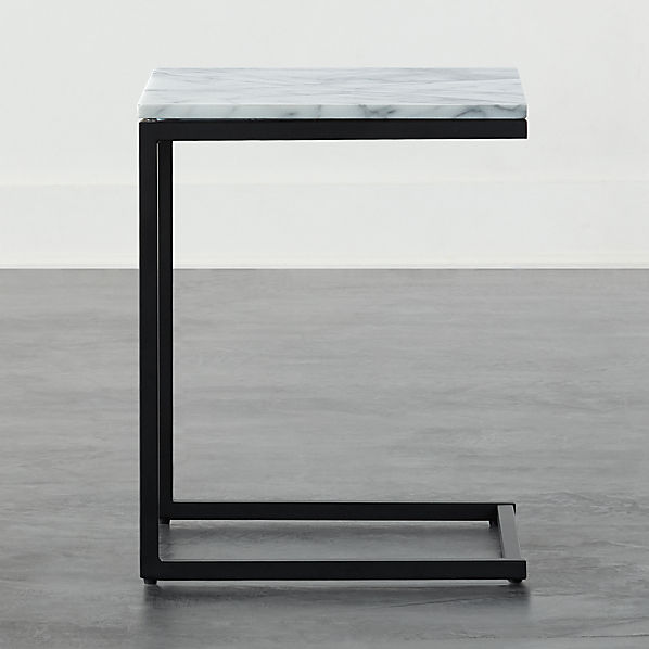 Smart Black C Table With White Marble