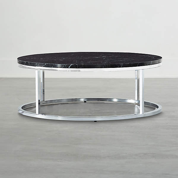 https www cb2 com smart chrome coffee table with black marble top s493131