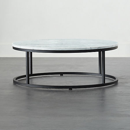 Smart Black Coffee Table With White Marble Top Reviews Cb2