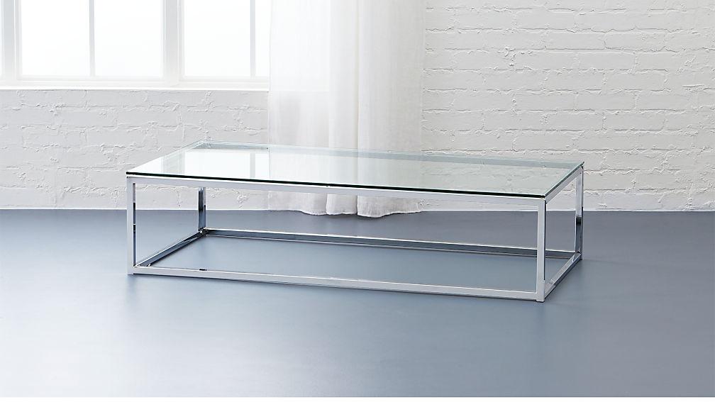 glass top coffee table smart glass top coffee table | CB2 glass top coffee table