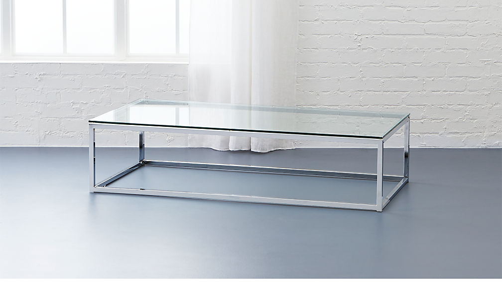 Smart Glass Chrome And Glass Coffee Table Reviews CB - Chrome base glass top coffee table