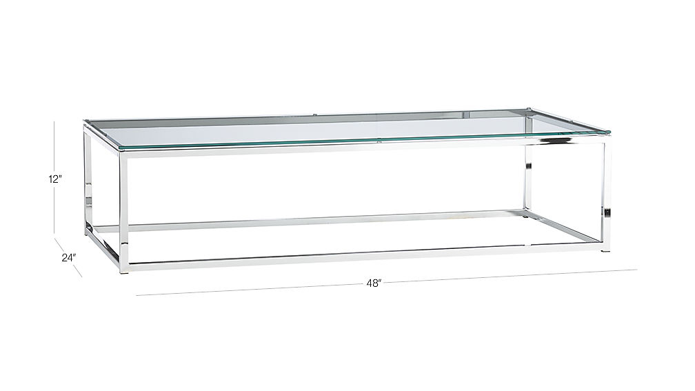 Smart Glass Chrome And Glass Coffee Table Reviews Cb2