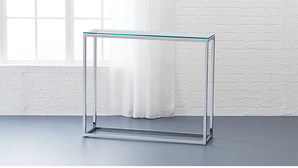Smart Glass Console Table Reviews Cb2