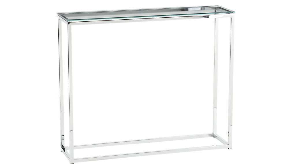 Smart Glass Console Table + Reviews | CB2