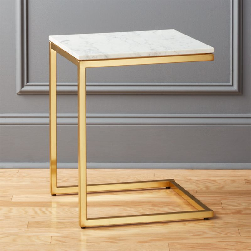 Attractive smart marble top side table + Reviews | CB2 XI49