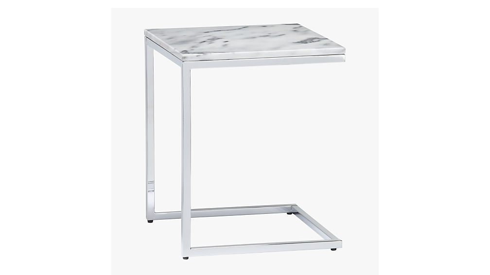 Ideal smart marble top side table + Reviews | CB2 FA89