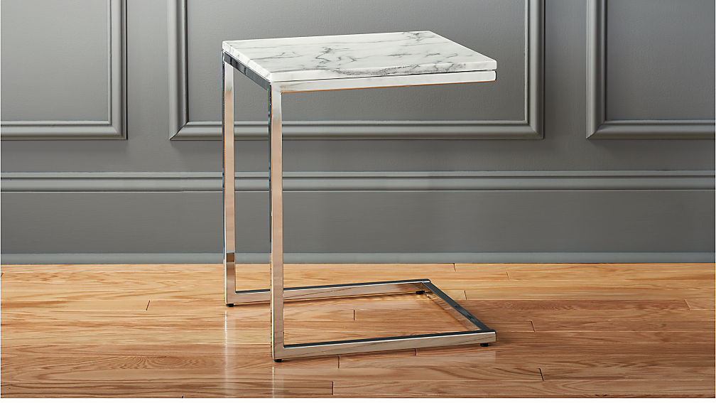 788649b8fd4b19 Smart Marble Top Side Table + Reviews | CB2
