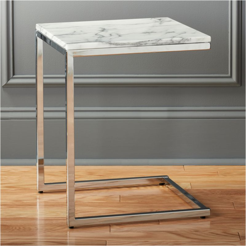 Beautiful Smart Marble Brass C Table + Reviews | CB2