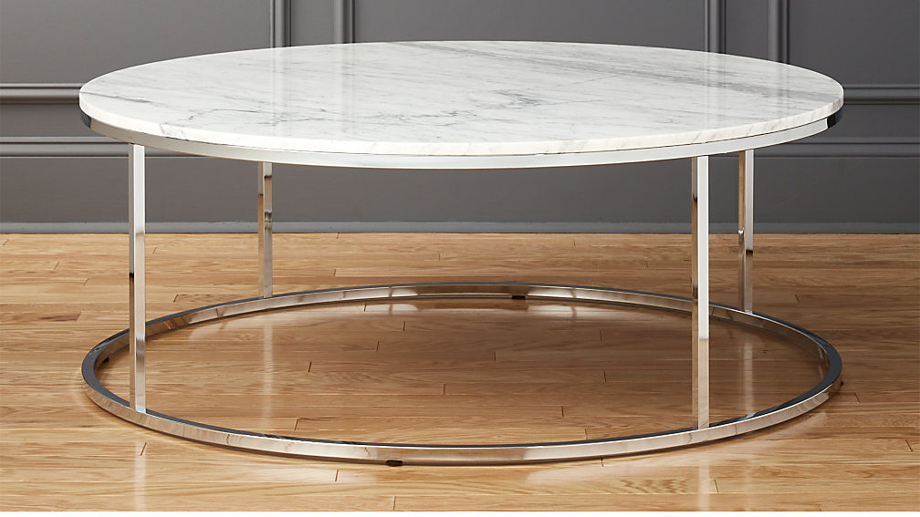 round marble coffee table Smart Large Round Marble Top Coffee Table + Reviews | CB2 round marble coffee table