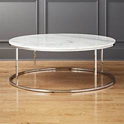 Smart Round Marble Top Coffee Table Reviews CB - Cb2 smart round coffee table