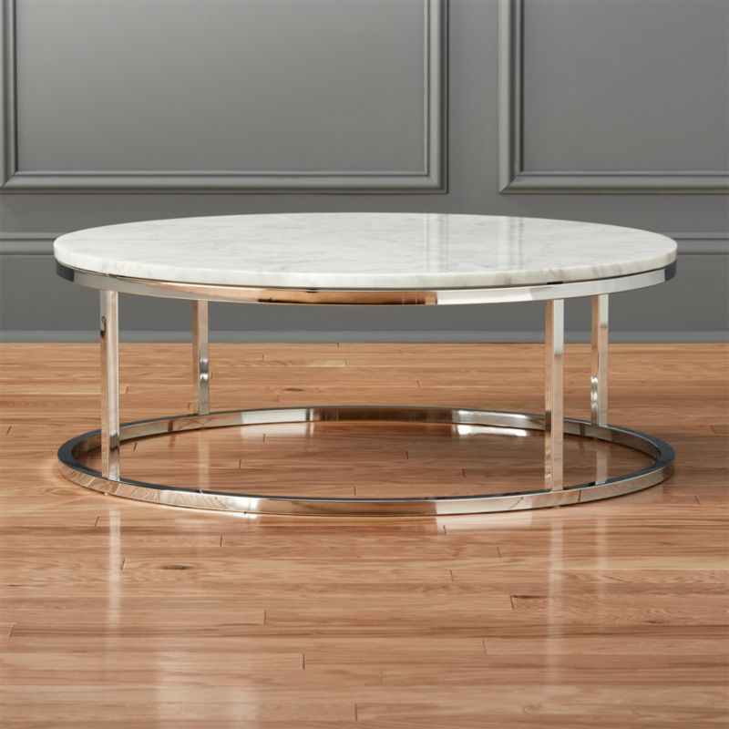 & smart round marble top coffee table + Reviews | CB2