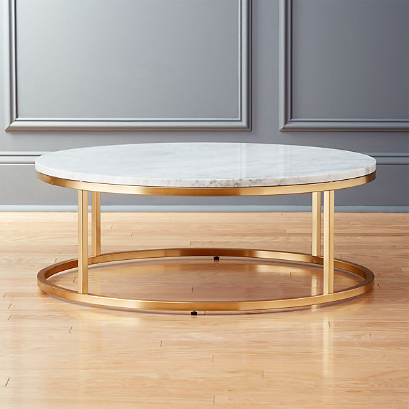 Smart Round Marble Brass Coffee Table Reviews Cb2 Canada