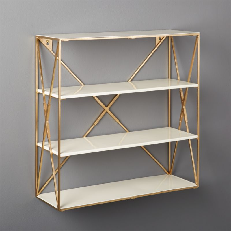 Smith Large Brass Wall Shelf