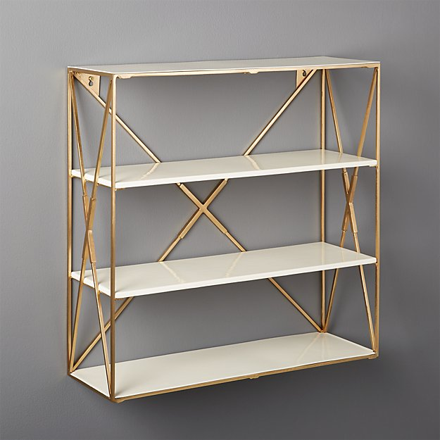 Smith Large Brass Wall Shelf - Image 1 of 5