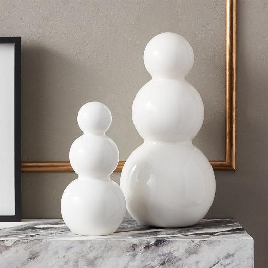 Small White Glass Snowman