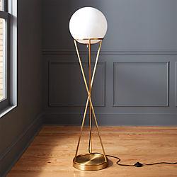 Modern floor lamps cb2 solis globe floor lamp aloadofball Image collections