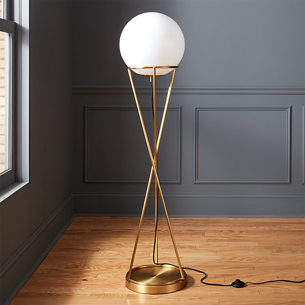 Solis Glass Globe Floor Lamp - Image 1 of 8