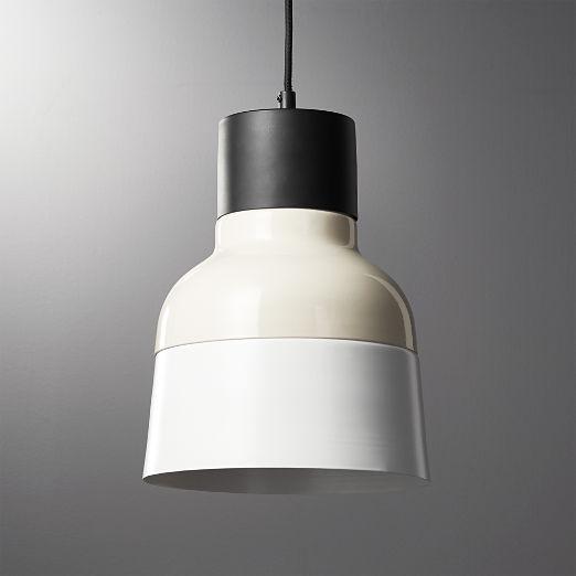 Soso Tan And White Metal Pendant Light