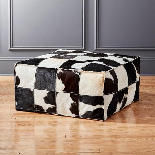Superb Modern Poufs And Floor Pouf Seating Cb2 Customarchery Wood Chair Design Ideas Customarcherynet