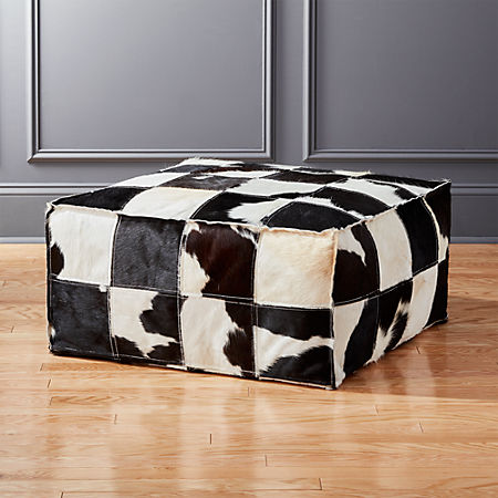 Amazing Large Spotted Cowhide Pouf Forskolin Free Trial Chair Design Images Forskolin Free Trialorg