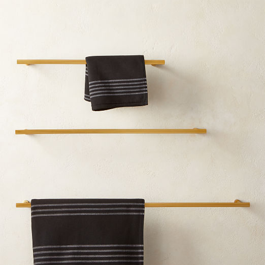 Sprocket Towel Bars Brass