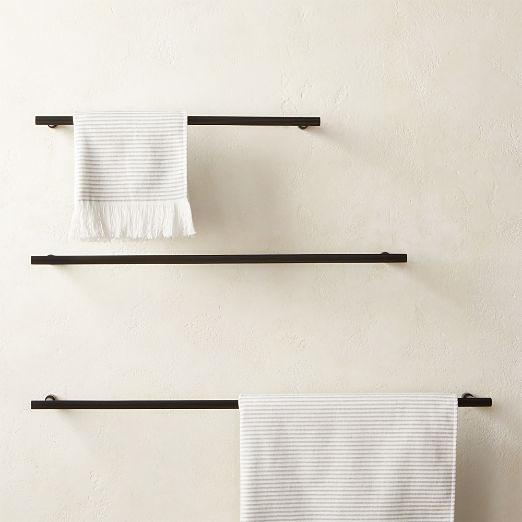 Sprocket Towel Bars Matte Black