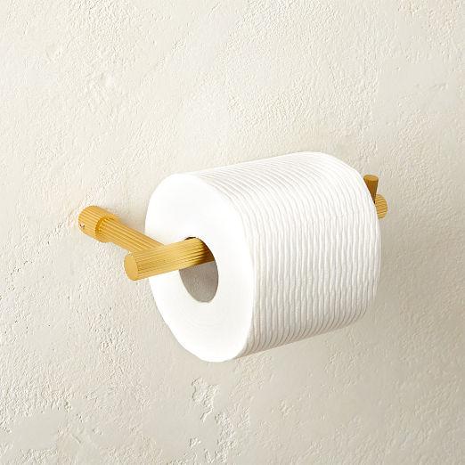 Sprocket Toilet Paper Holder Brass
