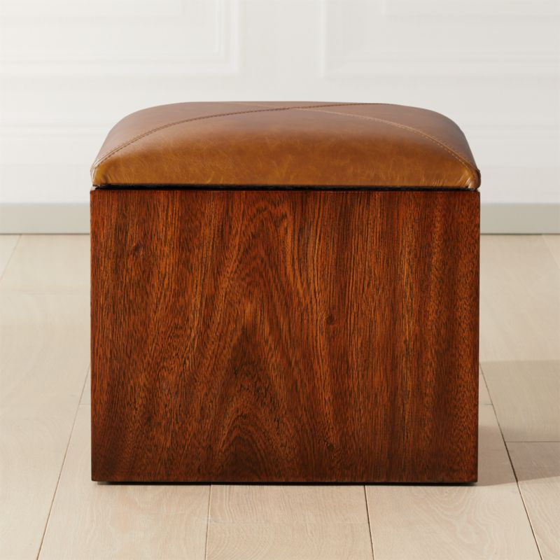 Outstanding Squad Storage Ottoman Cb2 Machost Co Dining Chair Design Ideas Machostcouk