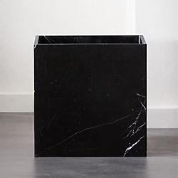Square Black Marble Planter