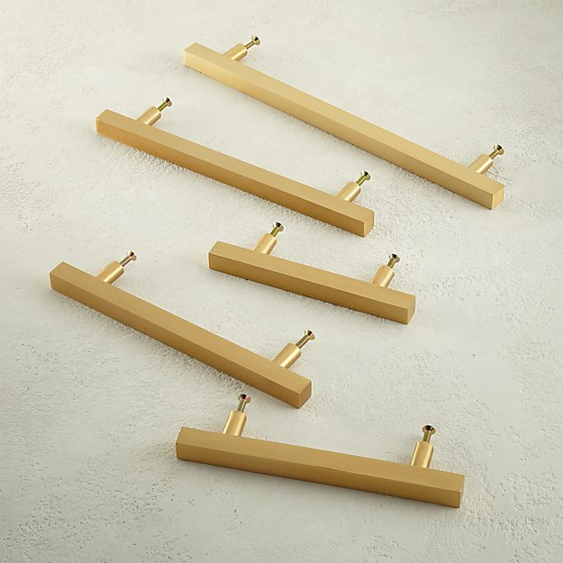 Brushed Brass Square Handles - Image 1 of 7