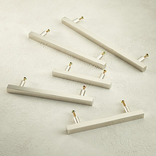 Polished Nickel Square Handles - Image 1 of 6