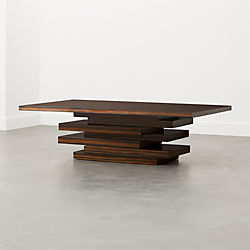 Stack Hi Gloss Wood Coffee Table