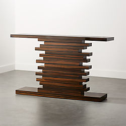 Stack Hi Gloss Wood Console Table