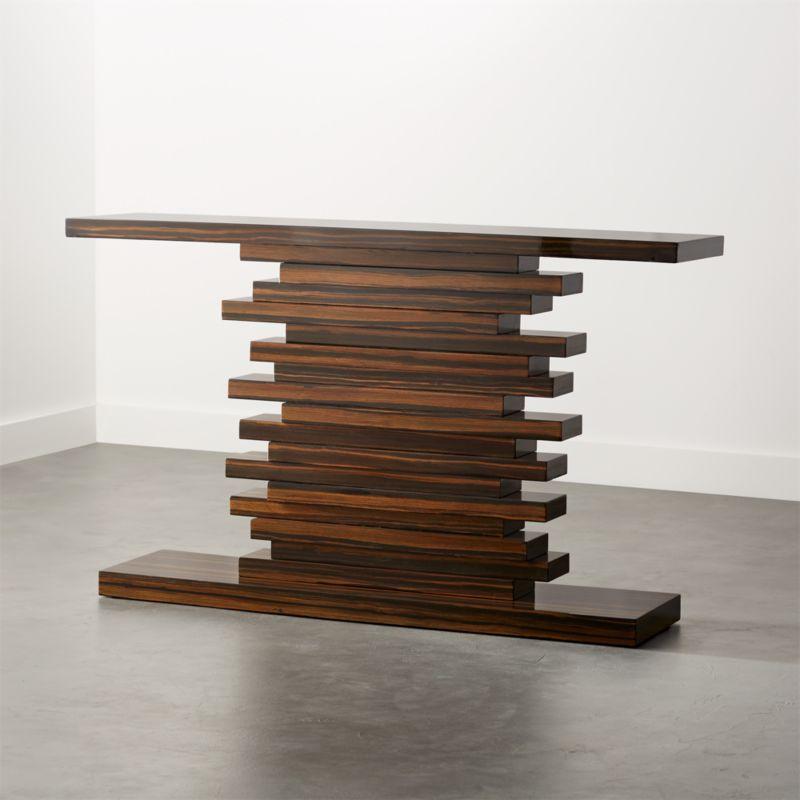 Furniture wood design Sofa Set Console Tables Unique Furniture Modern Edgy Cb2