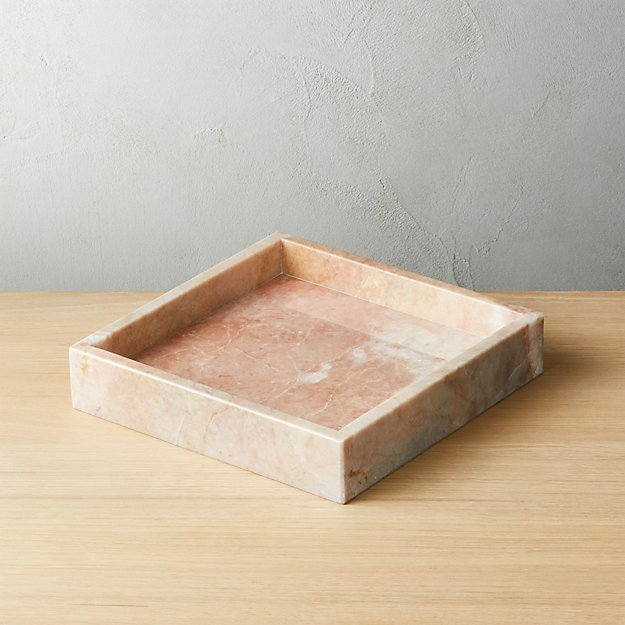 Stack Small Pink Marble Tray - Image 1 of 10