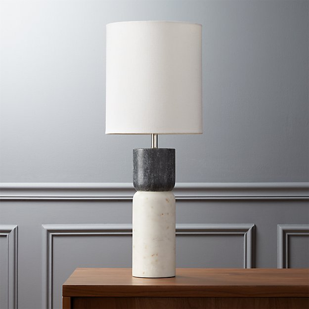 Stacked Marble Table Lamp Reviews Cb2