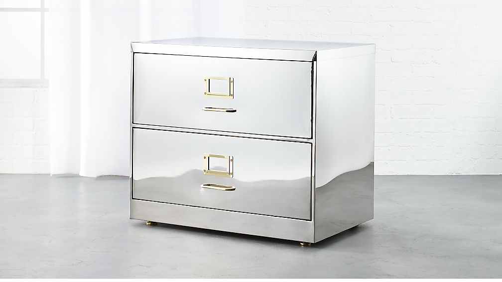 Stainless Steel Wide File Cabinet Reviews Cb2