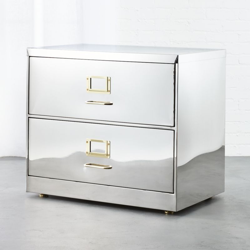 stainless steel wide file cabinet